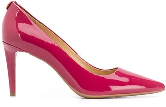 Michael Kors patent pointed high heel pumps