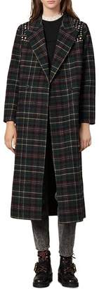 Sandro Tiles Embellished Wool-Blend Coat