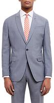 Jaeger Super 110s Wool Sharkskin Regular Fit Suit Jacket, Grey Melange