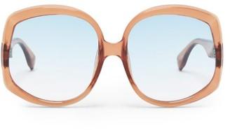 Le Specs Illumination Square Acetate Sunglasses - Womens - Tan