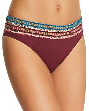 La Blanca Running Stitch Hipster Bikini Bottom