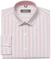 Kenneth Cole Reaction Macy's Dress Shirt, Orange and Red Stripe Long Sleeve Shirt