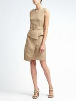 Banana Republic Linen-Blend Peplum Utility Dress