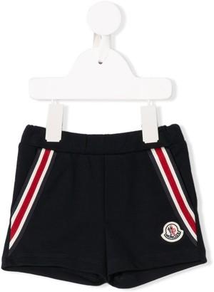 Moncler logo stripe shorts