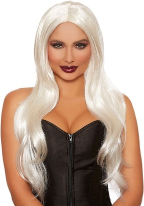 Dreamgirl Women's Long Straight Layered White Wig One Size