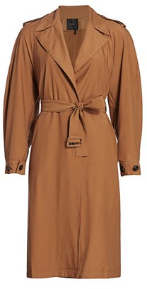 Agnona Water Repellent Trench Coat