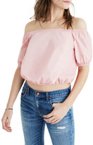 Madewell Off the Shoulder Poplin Blouse