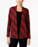 JM Collection Petite Printed Layered-Look Top, Only at Macy's