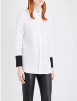 By Malene Birger Jeronia contrast cuff cotton shirt