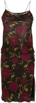 John Galliano Pre-Owned Floral Bias Skirt & Top
