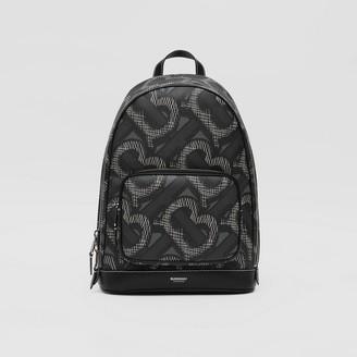 Burberry Monogram Print E-canvas Backpack