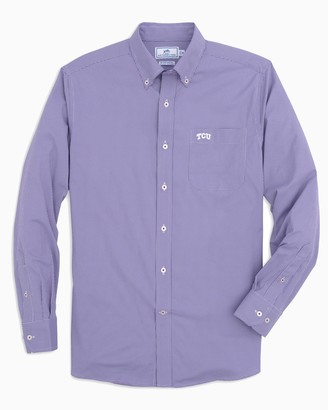 Southern Tide TCU Horned Frogs Gingham Button Down Shirt