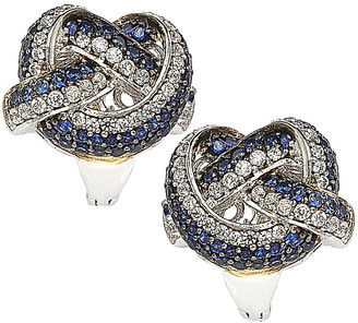 LeVian Suzy 18K & Silver 2.07 Ct. Tw. Sapphire Knot Earrings