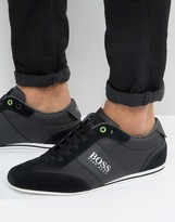 BOSS GREEN by Hugo Boss Lighter Logo Suede Sneakers