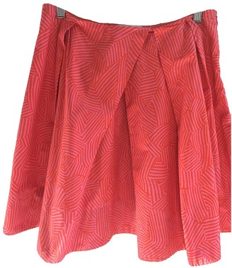 Bruuns Bazaar Orange Cotton Skirt for Women