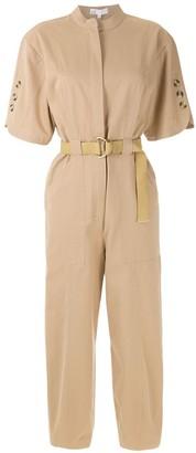 Nk Short Sleeves Belted Jumpsuit