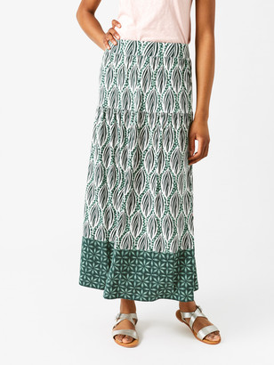 White Stuff Floral Leaf Maxi Skirt