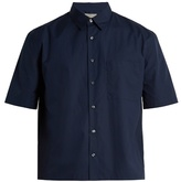 Vince Half-sleeved Cotton-poplin Shirt