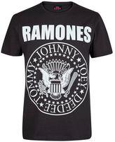 Burton Mens Black Ramones Print T-Shirt