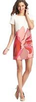 LOFT Tall Placed Floral Print Short Sleeve Shift Dress