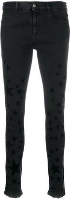 Stella McCartney Star flocked skinny jeans