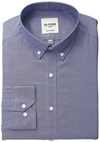 Ben Sherman Men's Oxford Shirt with Button Down Collar, Navy, .969696969697