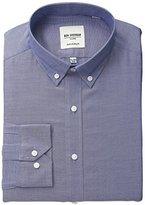 Ben Sherman Men's Oxford Shirt with Button Down Collar, Navy, .9714285714286
