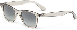 Ray-Ban 'Wayfarer' transparent acetate square frame sunglasses