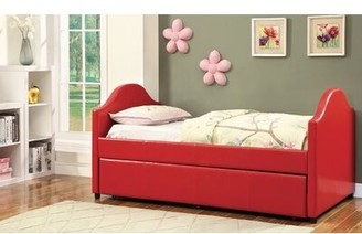 Hokku Designs Rhine Twin Panel Bed with Trundle Color: Red