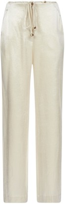 Nanushka Flax Belted Pants