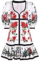 Alexander McQueen Floral-printed cotton dress