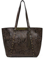 Patricia Nash Burnished Tooled Lace Collection Benvenuto Studded Tote