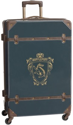 Pottery Barn Teen HARRY POTTER Hard-Sided HUFFLEPUFF Checked Spinner Suitcase