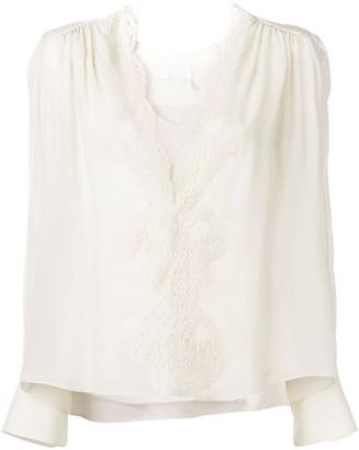 Chloé V-neck blouse