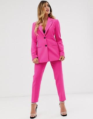 Asos Design DESIGN pop slim suit pants-Pink