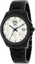 Jivago Jolie Womens Mother-of-Pearl and Black Stainless Steel Bracelet Watch