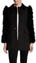 RED Valentino Wool Feather Sleeve Coat