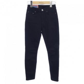 Acne Studios Bla Konst Black Cloth Trousers for Women