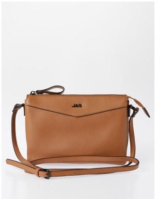 Jag Khloe Zip-Top Crossbody Bag in Camel Brown