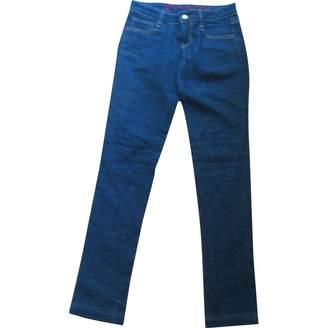 Frankie Morello Blue Cotton Jeans for Women