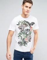 Brave Soul Skull Floral T-Shirt