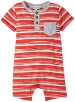 Splendid Space Dye Stripe Romper (Baby) - Red - 3-6 Months