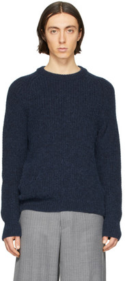 Our Legacy Navy Heavy Chunk Sweater