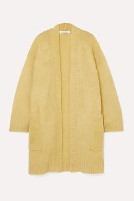 Max Mara Sampang Oversized Mohair-blend Cardigan - Yellow