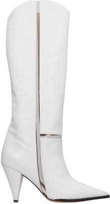Alexandre Birman Dora Boot 90 Boots In White Leather