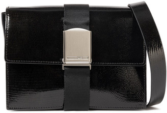 McQ Christine Deluxe Glossed Lizard-effect Leather Shoulder Bag