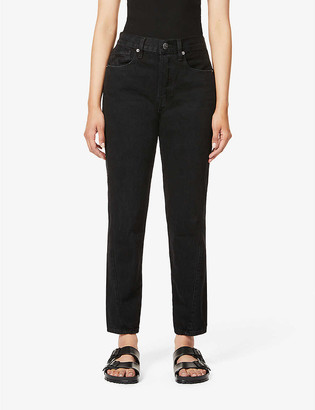 Frame Le Original Twist mid-rise tapered jeans