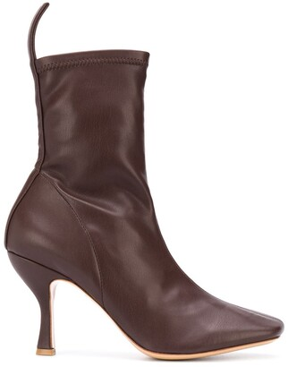 Gia Couture Soraya square-toe ankle boots