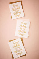 BHLDN Foil Script Wedding Day Card
