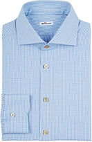Kiton Men's Gingham Cotton Twill Shirt